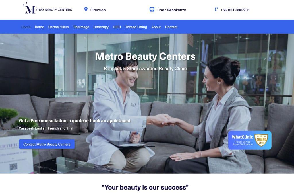 OGO-Studio - Web Design Thailand Bangkok Hua Hin - Projects - Metro-Beauty-Centers-feat