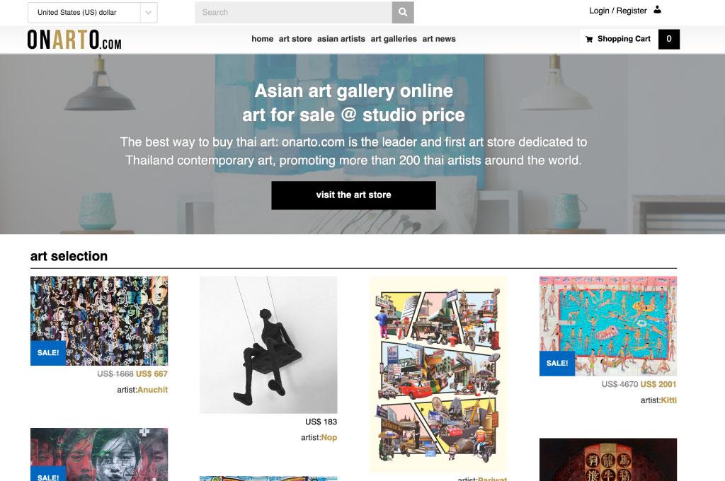 OGO-Studio - Web Design Thailand Bangkok Hua Hin - Projects - Onarto-Asian-Art-feat